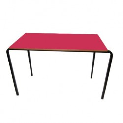 stacking table rectangular tables Red