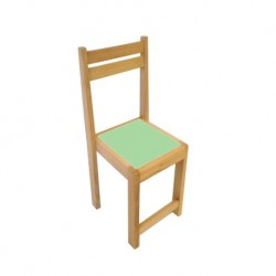 Kids Beechwood Chair Lime Green