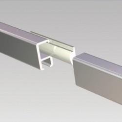 Clip-Rail Smart Heavy Duty Straight Connector
