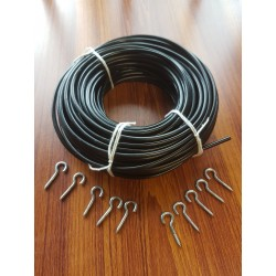 Black Net / Voile Curtain Wire