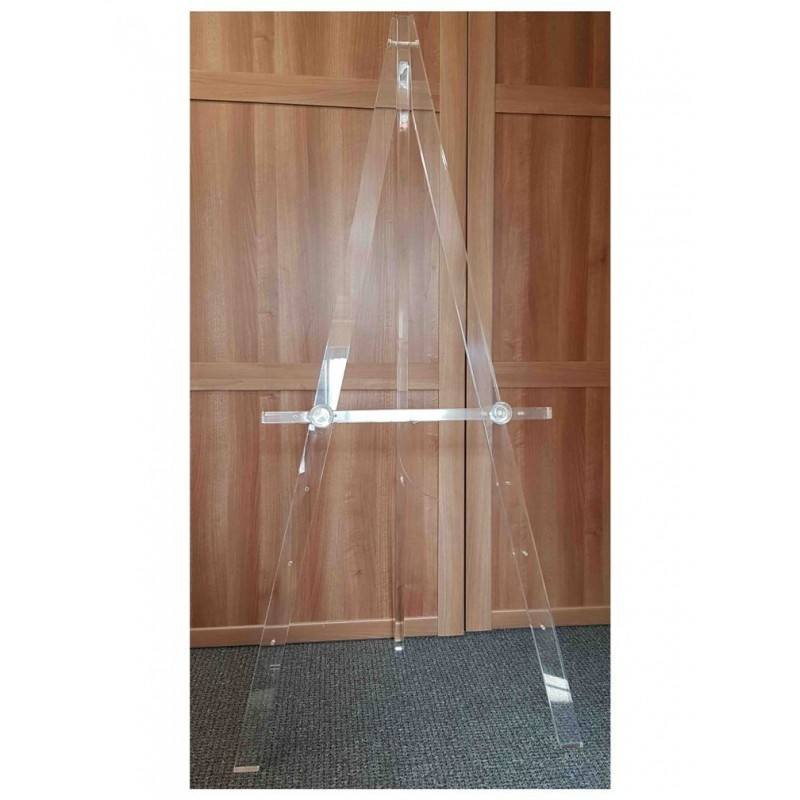 Display Stand Hire London : Acrylic clear perspex display stands easel transparent