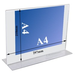 T shaped Acrylic Display