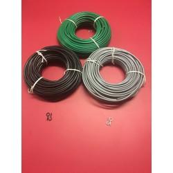 Black Net / Voile Curtain Wire