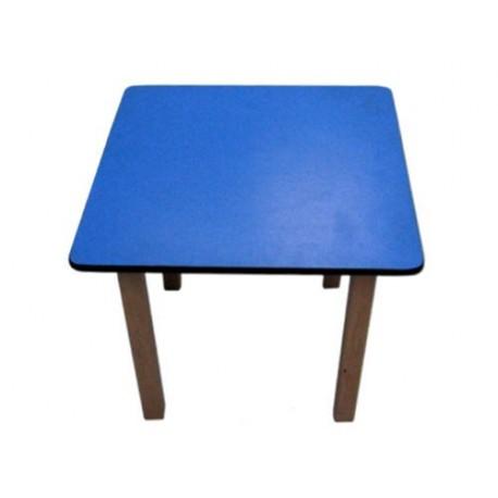 Kids Pre School Square Table Blue