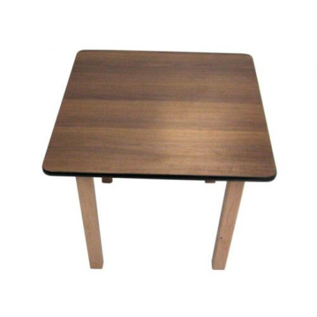 Kids Pre School Square Table Walnut