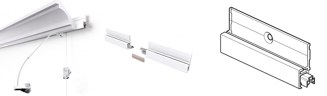 Moulding Multirail Crown lighting