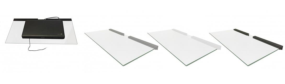 Dvd Glass Shelf Sky Box Glass Shelf Tv Glass Shelf Floating Glass  # Meuble Tv Invisible