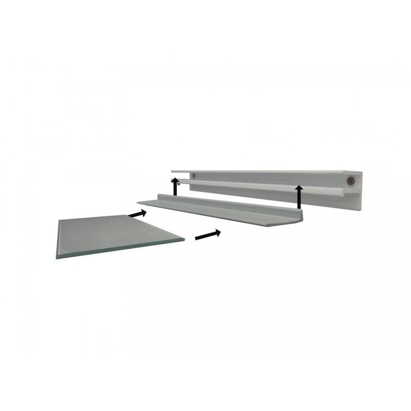 floating glass shelf all surface plasterboard drywall custom size london uk. Black Bedroom Furniture Sets. Home Design Ideas
