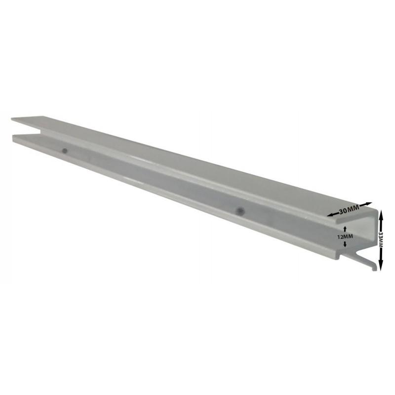 12 mm floating glass shelf bracket white silver black. Black Bedroom Furniture Sets. Home Design Ideas