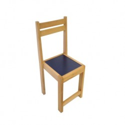 Kids Beechwood Chair Blue