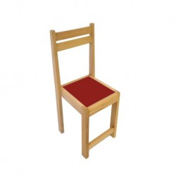 Kids Beechwood Chair Red seat
