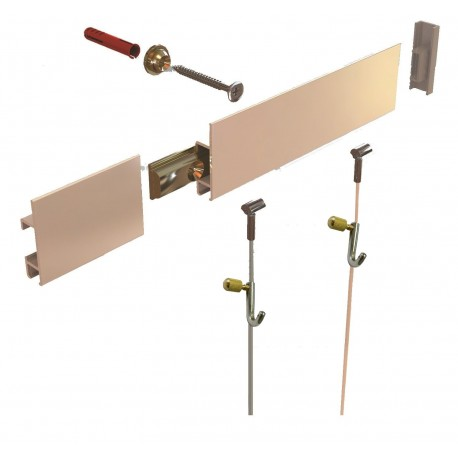 163 22 5 Stas Clip Rail Hanging System Kit Picture Hanging