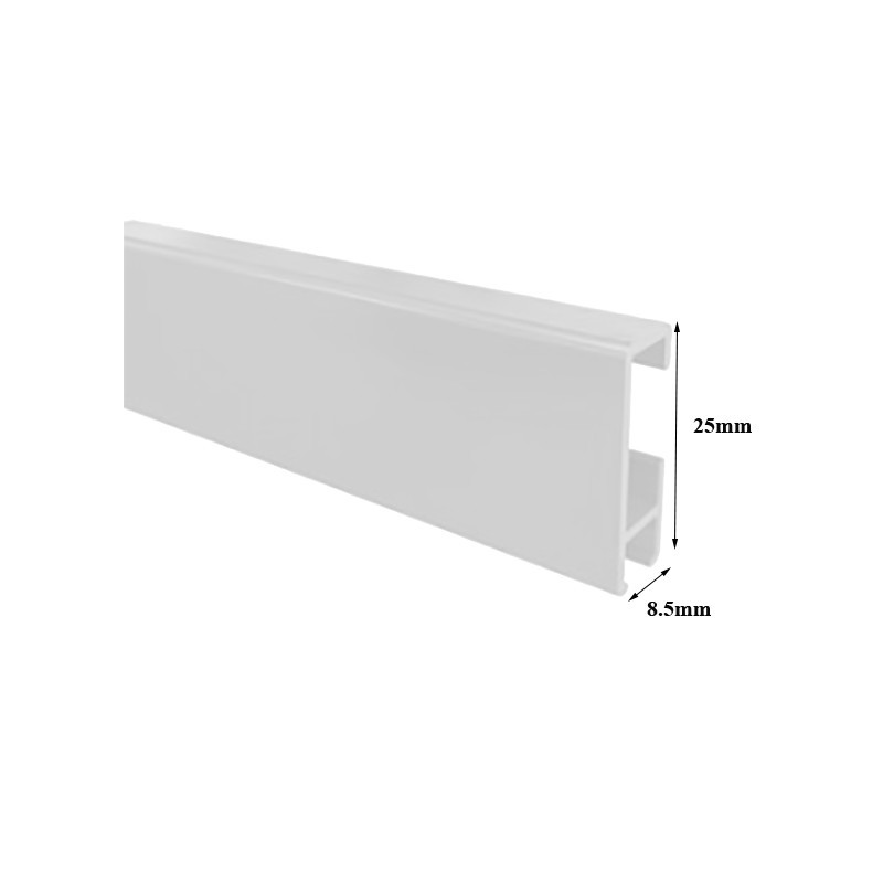 163 7 99 Cliprail 2 Meter White Silver Or Black Picture