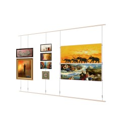 Top & Bottom Rail Picture hanging Wall kits