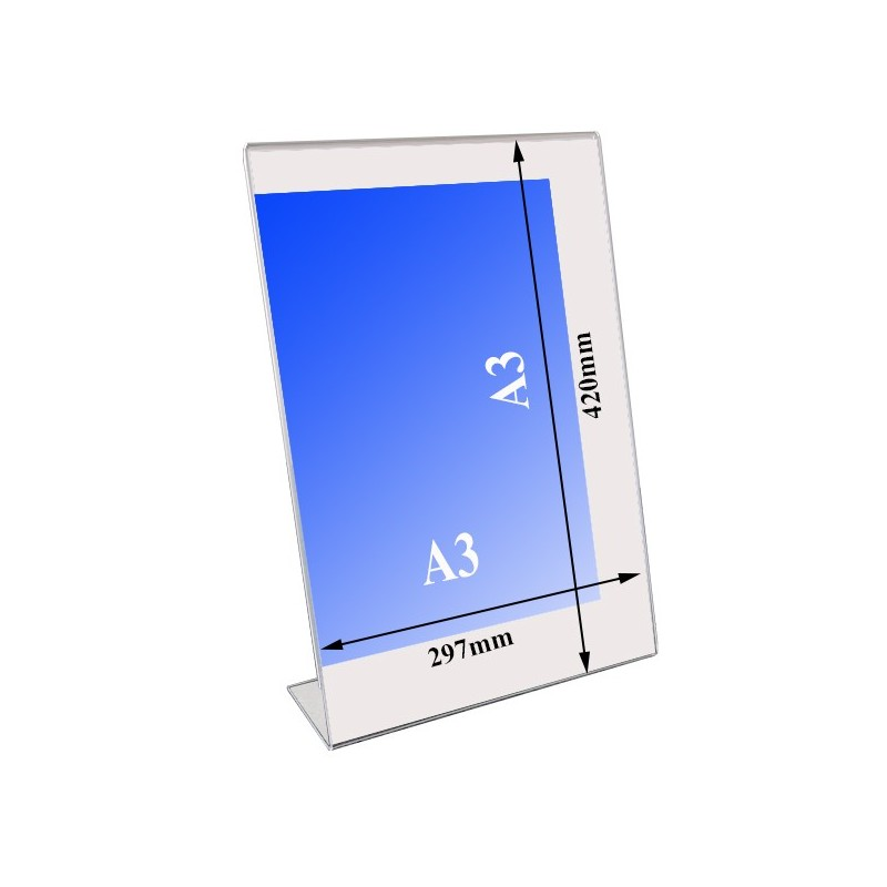 l shaped acrylic holder stand