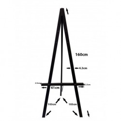 Easel Hire Greco Easel 160cm