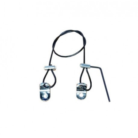 BLACK Steel Wire Rope Cable Security KIT