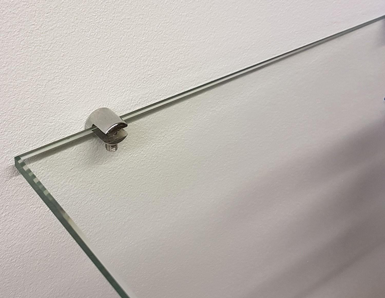 Wall Mount Glass Shelf Clamps Picturehangingdirect Co Uk London Uk