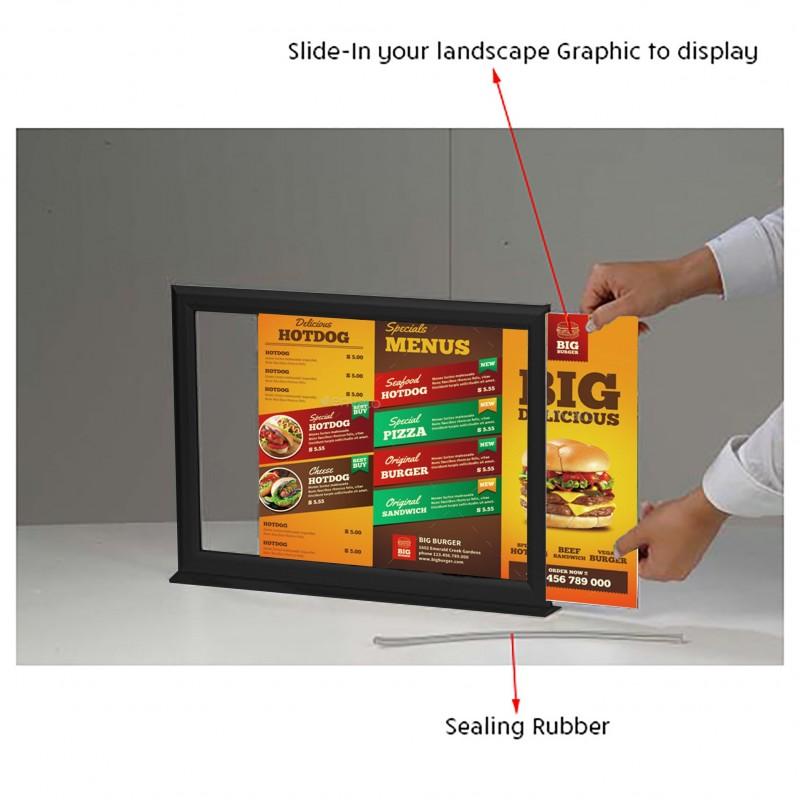 Counter Top Slide-In Poster Holder