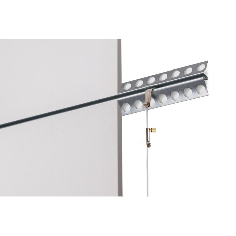 Plaster Rail picture hanging system for art galleries wall ...