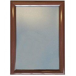 Walnut Dark Brown Chocolate Wood Color Aluminium Snap Click Frames