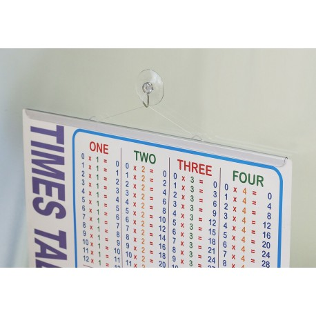Clear Poster Hanger With Suction Cup