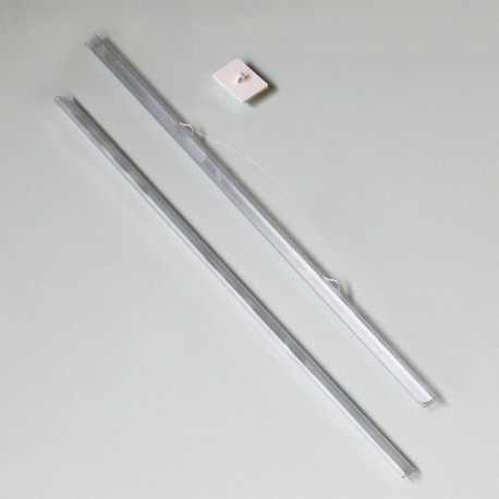 Clear Poster Hanger with Self-Adhesive Hook