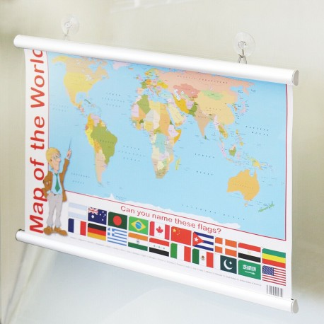 Aluminium Poster Hanger With Suction Cups
