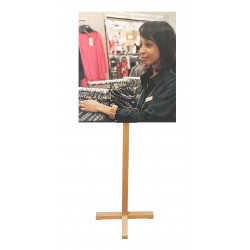 Window Display Easel Wood