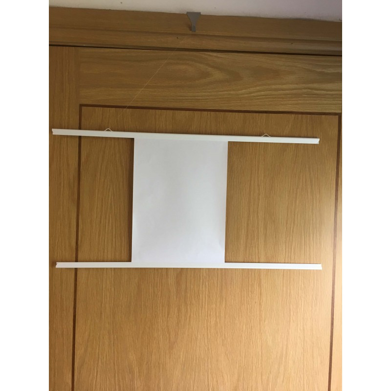 White Poster Hanger Set For 24 Inch Posters With Clear Cord