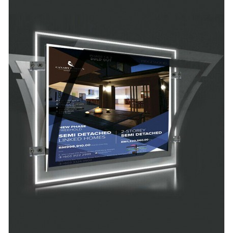 A2 LED Display Pocket Wall To Wall Kit
