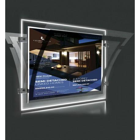 A3 LED Display Pocket Ceiling To Floor Kit