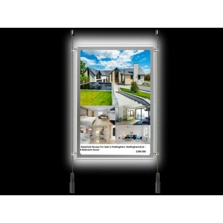 A4 LED Display Pocket Ceiling To Floor Kit