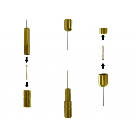 Ceiling to Floor Cable with Gold Fixings