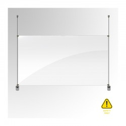 6MM Rod Covid-19 Guard Screen Barrier