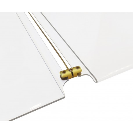 Brass Gold Panel Support Double 4MM