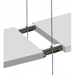 Hanging Wood Shelf Boss Support Double