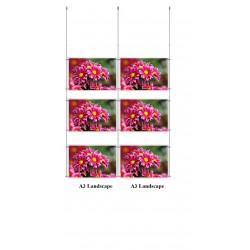Ceiling Multi Cable Display Kit A3