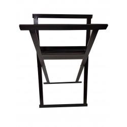 Midi Folding Print Browser Steel Black