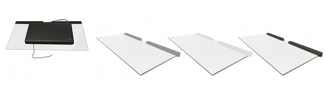 Audio Video Glass Shelves