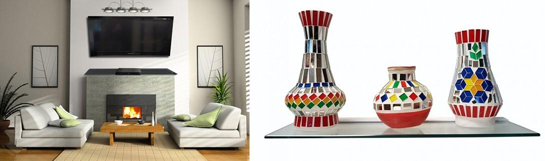 Fireplace Glass Shelf