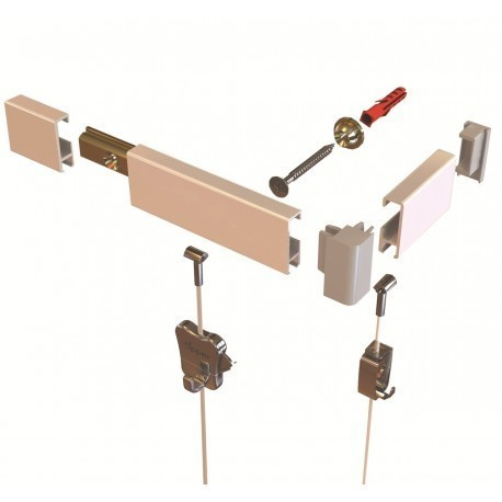 Clip Rail Picture Hanging Systems